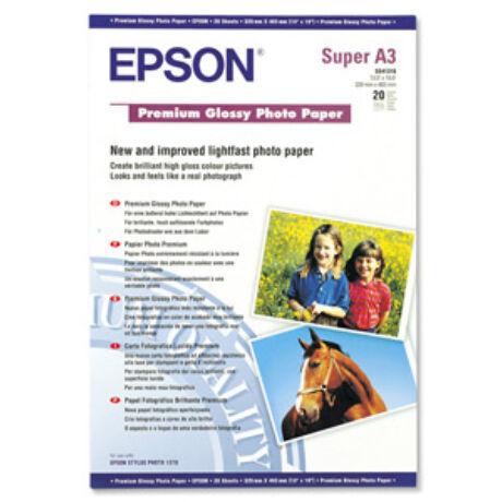 Fotópapír, tintasugaras, A3+, 255 g, fényes, EPSON