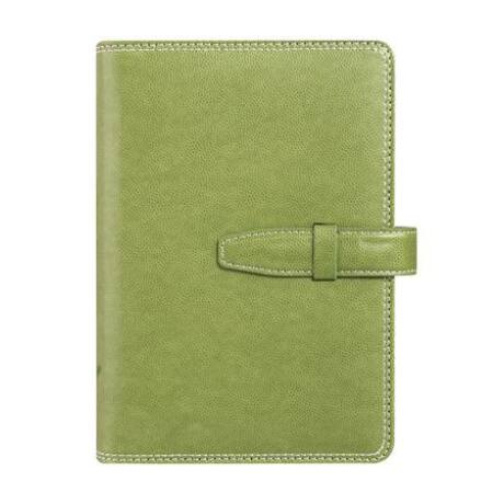 """Kalendárium, gyűrűs, betétlapokkal, """"L"""", műbőr, SATURNUS, zöld"""