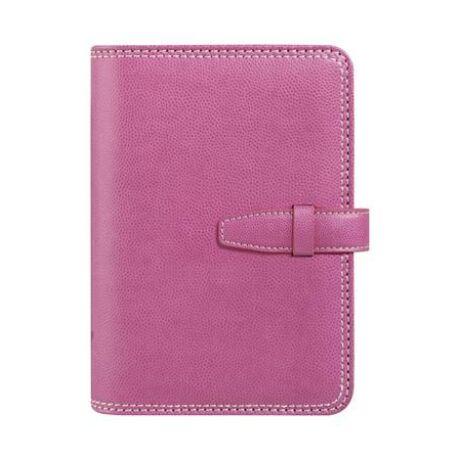 "Kalendárium, gyűrűs, betétlapokkal, ""M"", műbőr, SATURNUS, pink"