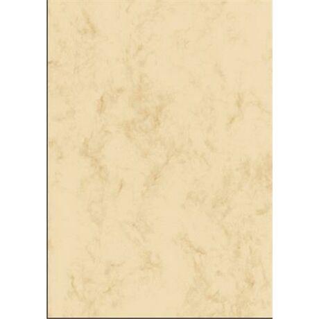 Előnyomott papír, kétoldalas, A4, 200 g, SIGEL, bézs, márványos