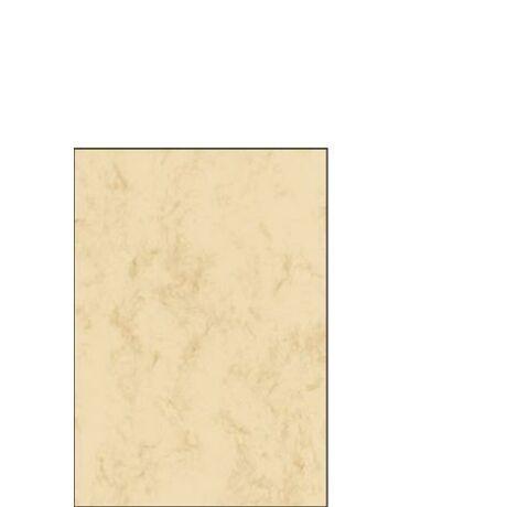 Előnyomott papír, kétoldalas, A5, 90 g, SIGEL, bézs, márványos