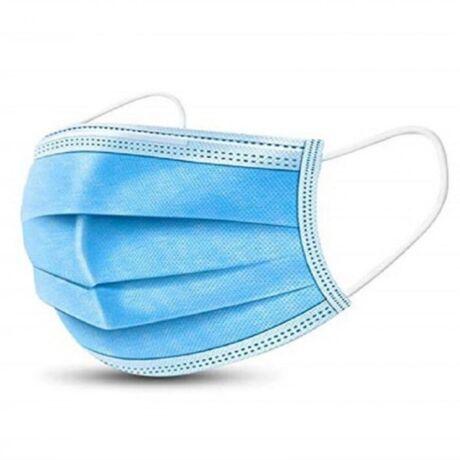 Szájmaszk egyszer használatos, 3 rétegű, higiénikus zárt csomagolásban 50db/csomag