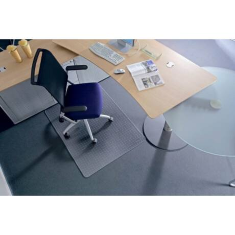 """Székalátét, kemény felületre, E forma, 90x120 cm, RS OFFICE """"Roll-o-Grip"""""""