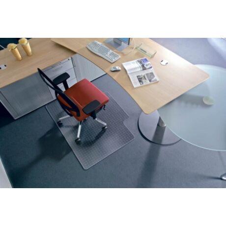 """Székalátét, kemény felületre, L forma, 150x120 cm, RS OFFICE """"Roll-o-Grip"""""""