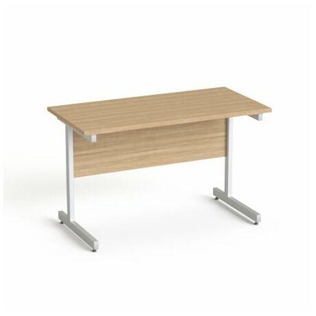 """Íróasztal, szürke fémlábbal, 120x70 cm, MAYAH """"Freedom SV-25"""", kőris"""