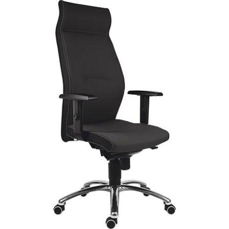 """Főnöki szék, magas háttámlával, szövet, alumínium láb., 24 h,""""1824 Lei"""", fekete"""
