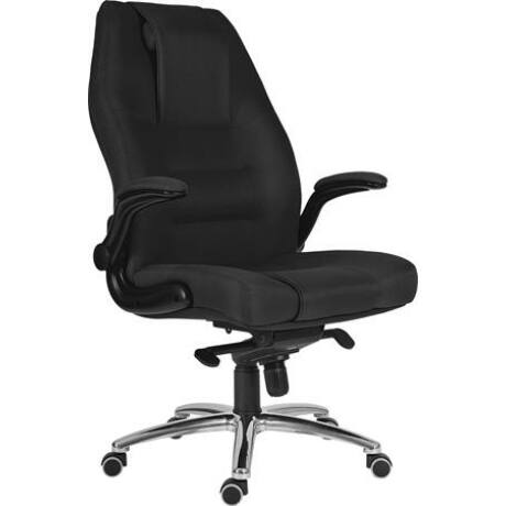 """Főnöki szék, szövetborítás, króm lábkereszt, 24 h """"MARKUS"""" fekete"""