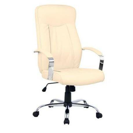 """Főnöki szék, műbőr borítás, króm lábkereszt, """"MONTGOMERY"""", drapp"""