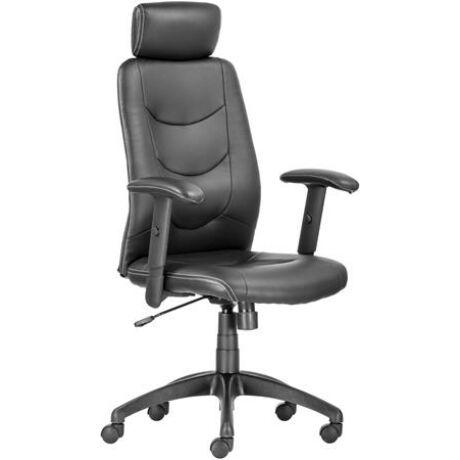 """Főnöki szék, műbőrborítás, fekete lábkereszt, """"PHILADELPHIA"""", fekete"""