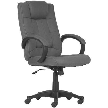 """Főnöki szék, szövetborítás, fekete lábkereszt, """"MODUS T"""", szürke"""