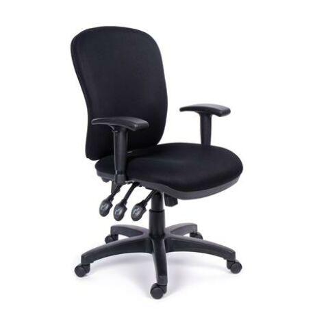 """Irodai szék, állítható karfával, fekete gyöngyszövet-borítás, fekete lábkereszt, MAYAH """"Su..."""