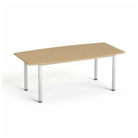 """Tárgyalóasztal, íves, szürke fémlábbal, 80/95x190 cm, MAYAH """"Freedom SV-43"""", kőris"""