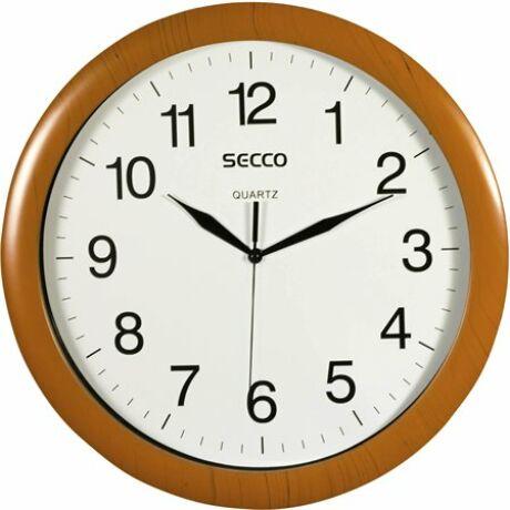 """Falióra, 32 cm, SECCO """"Sweep Second"""", fa hatású keret"""