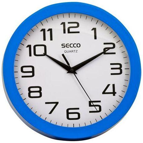 "Falióra, 25 cm, kék keretes, SECCO ""Sweep second"""